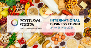 cartaz do international business forum - produtos alimentares